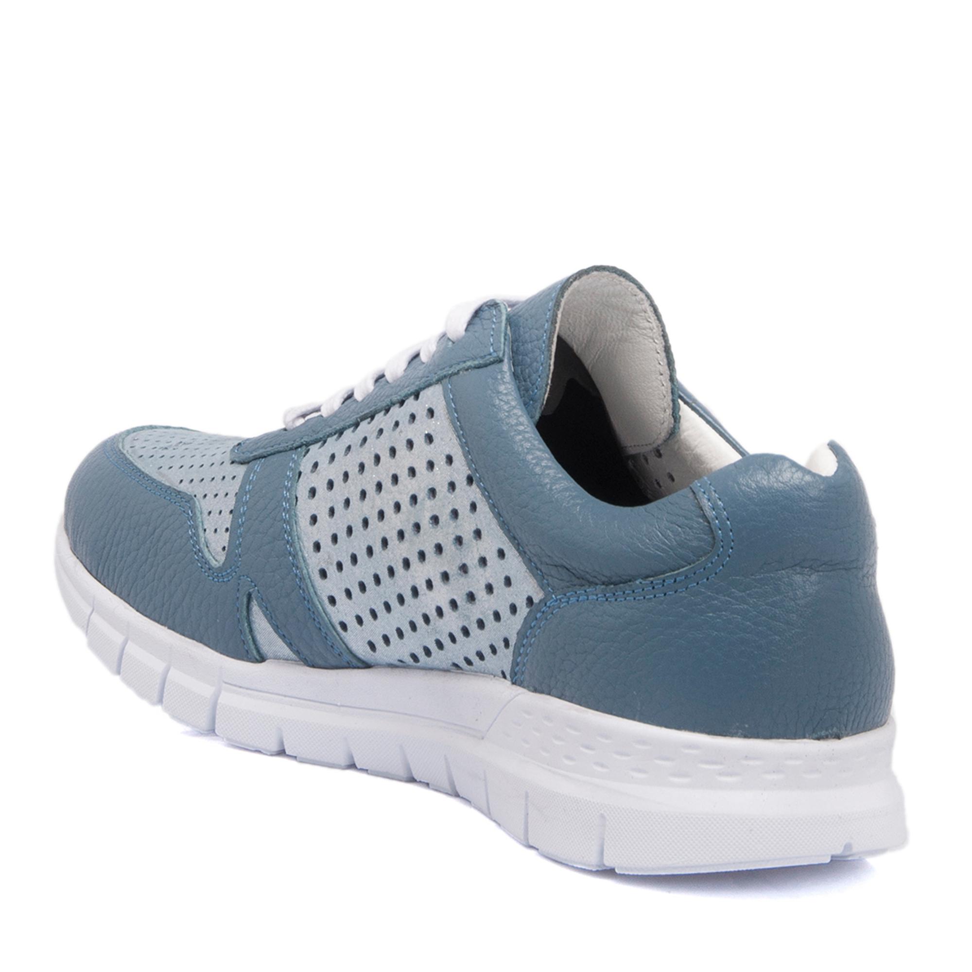 Mavi - Simli Deri Kadın Ayakkabı 63703N1T