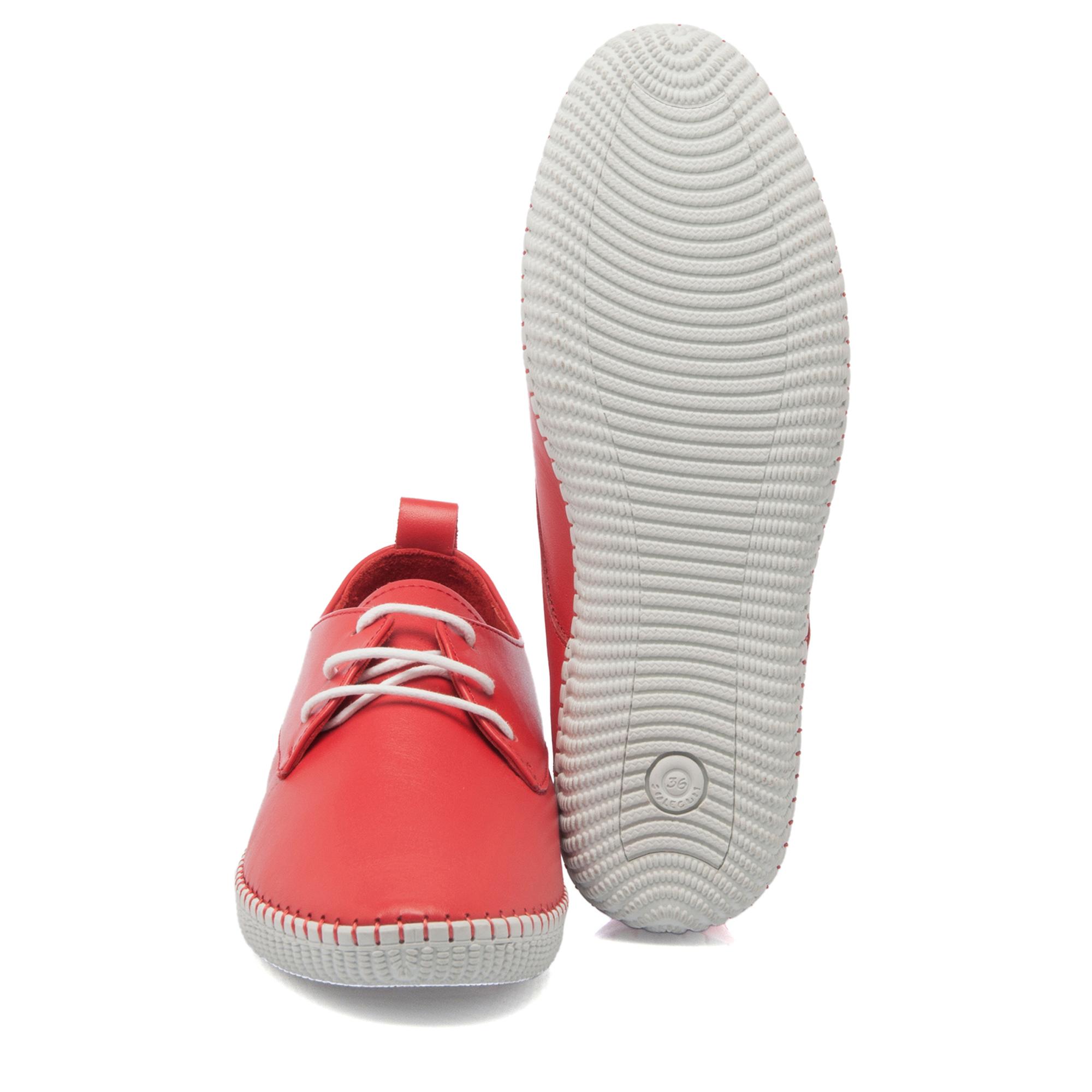 Kırmızı Deri Kadın Ayakkabı 63791A30