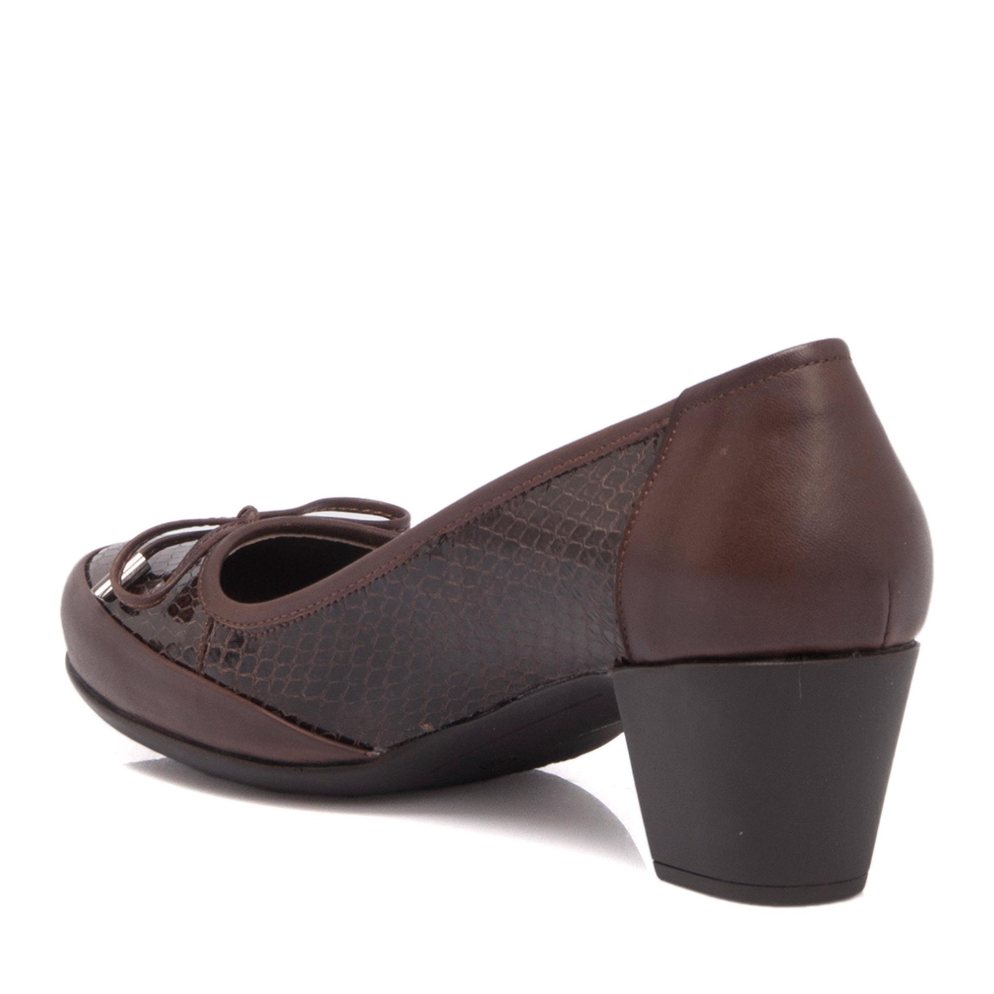 Kahve Deri Kadın Ayakkabı 63960A24