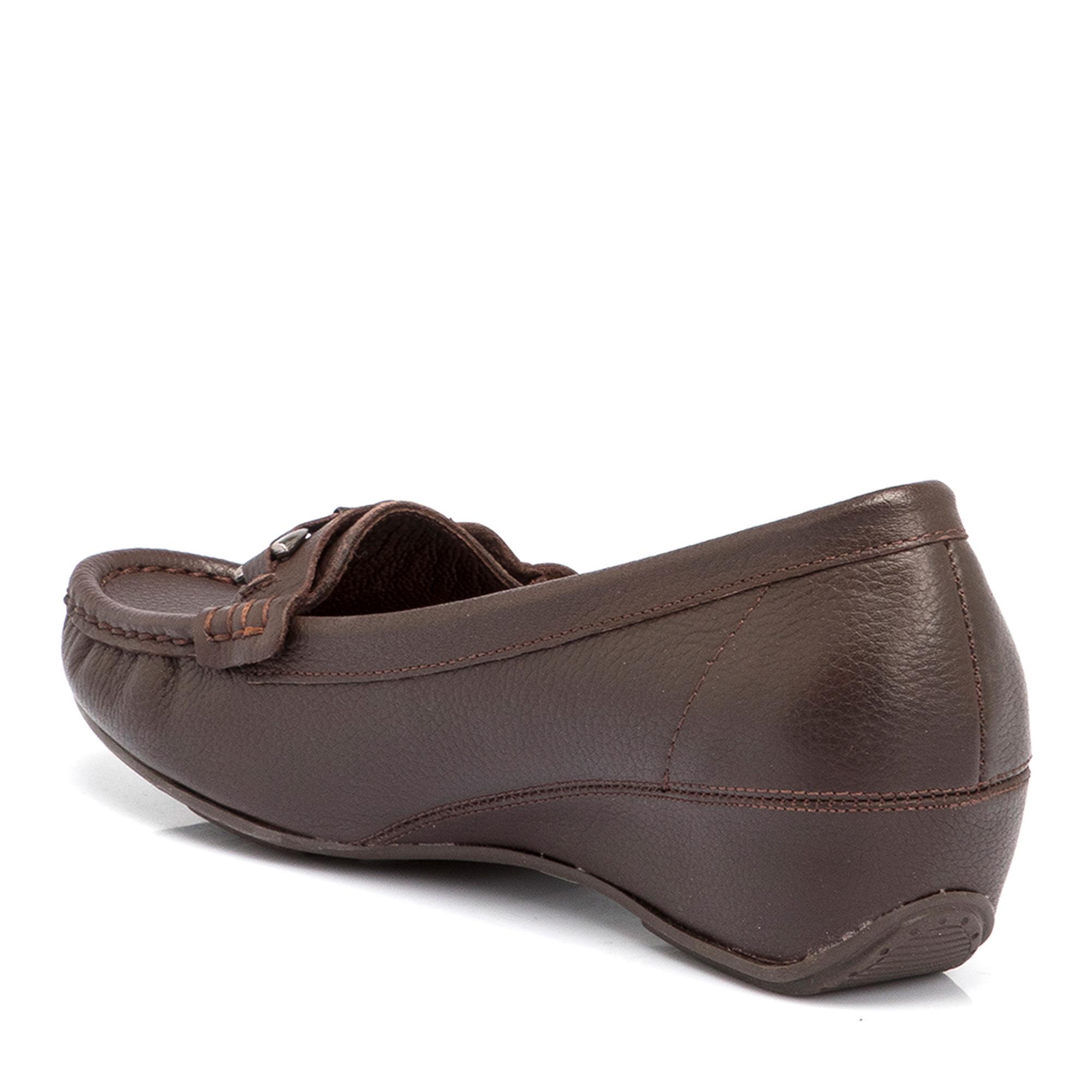 Kahve Deri Kadın Ayakkabı 64060A24