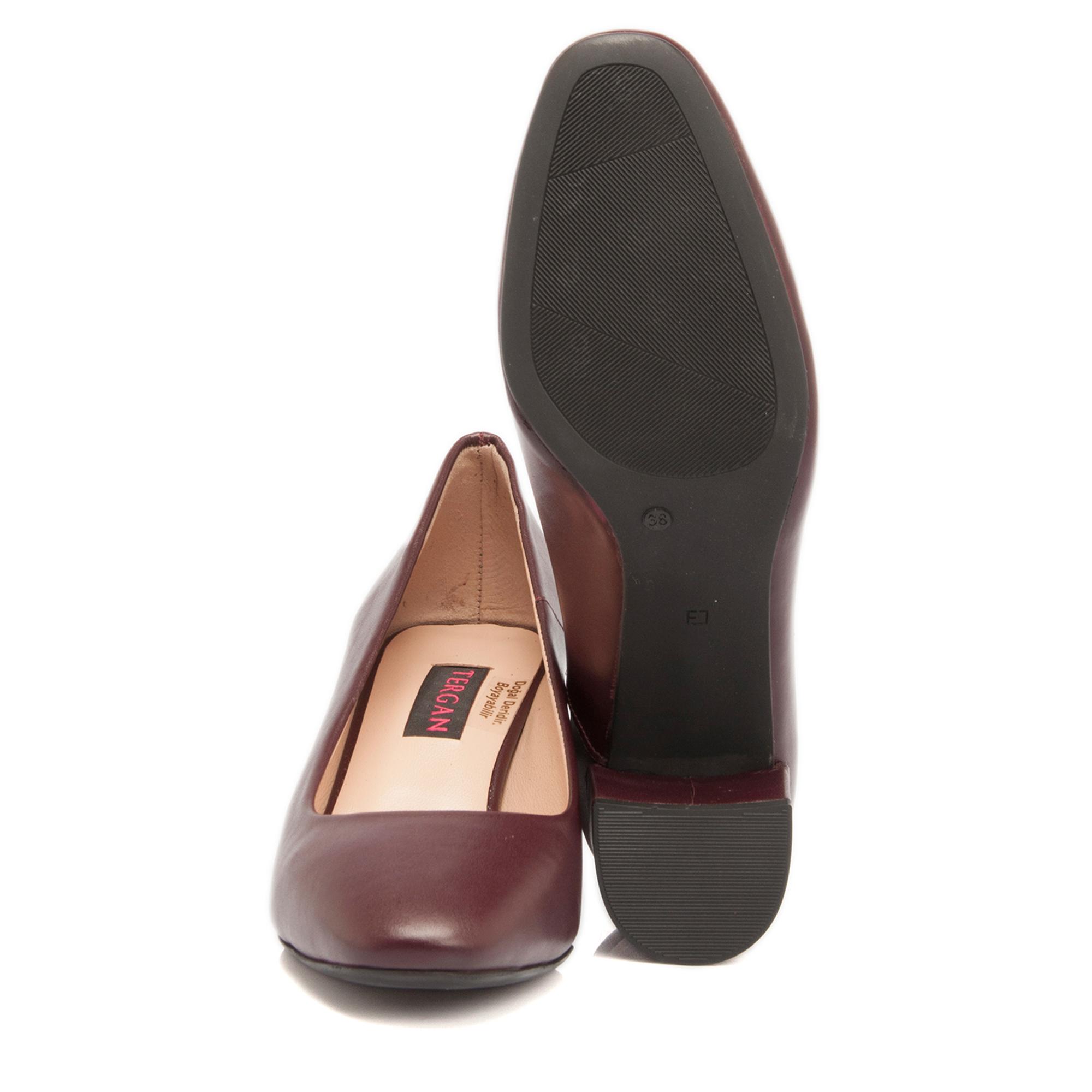 Bordo Deri Kadın Ayakkabı 64075X31