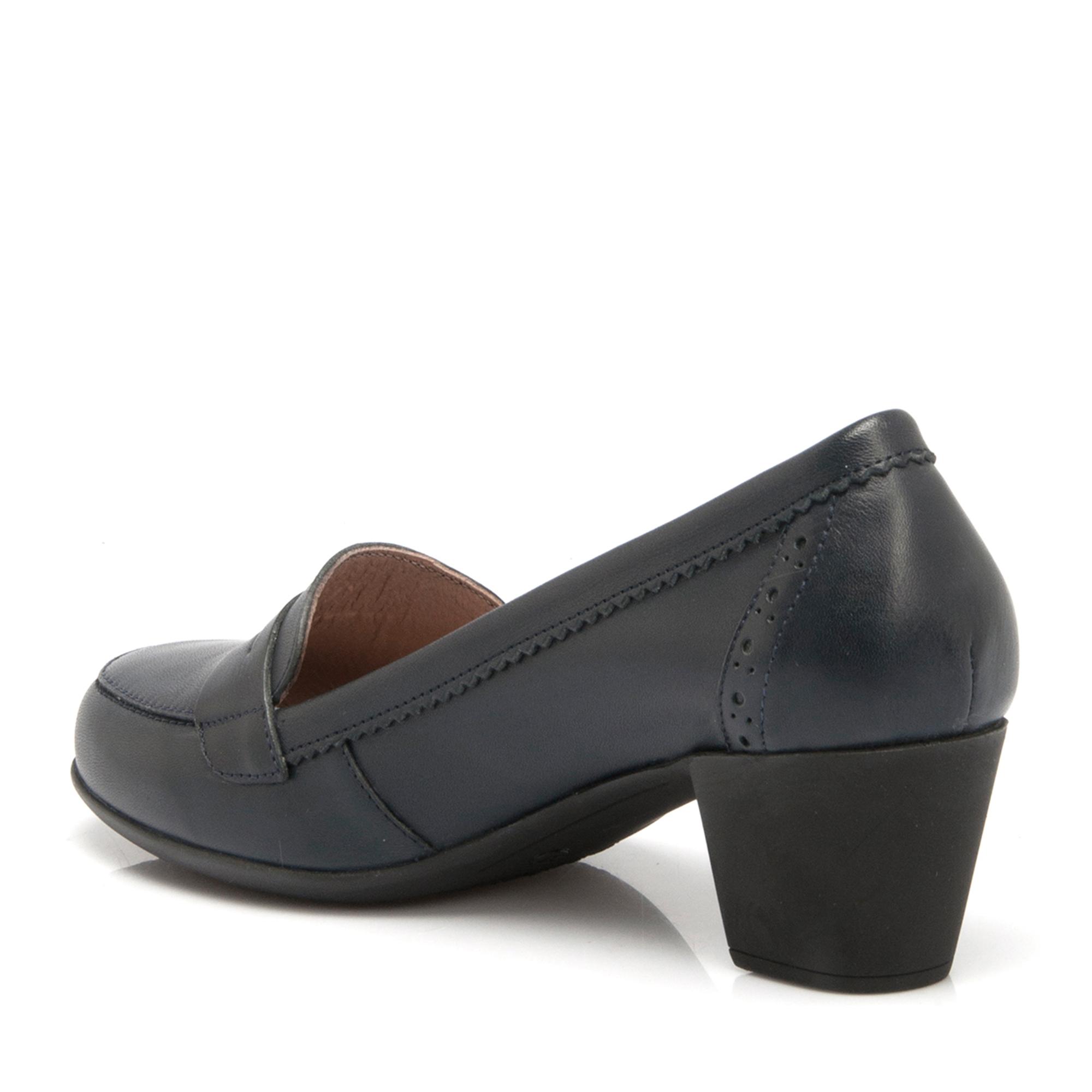 Lacivert Deri Kadın Ayakkabı 64198A31