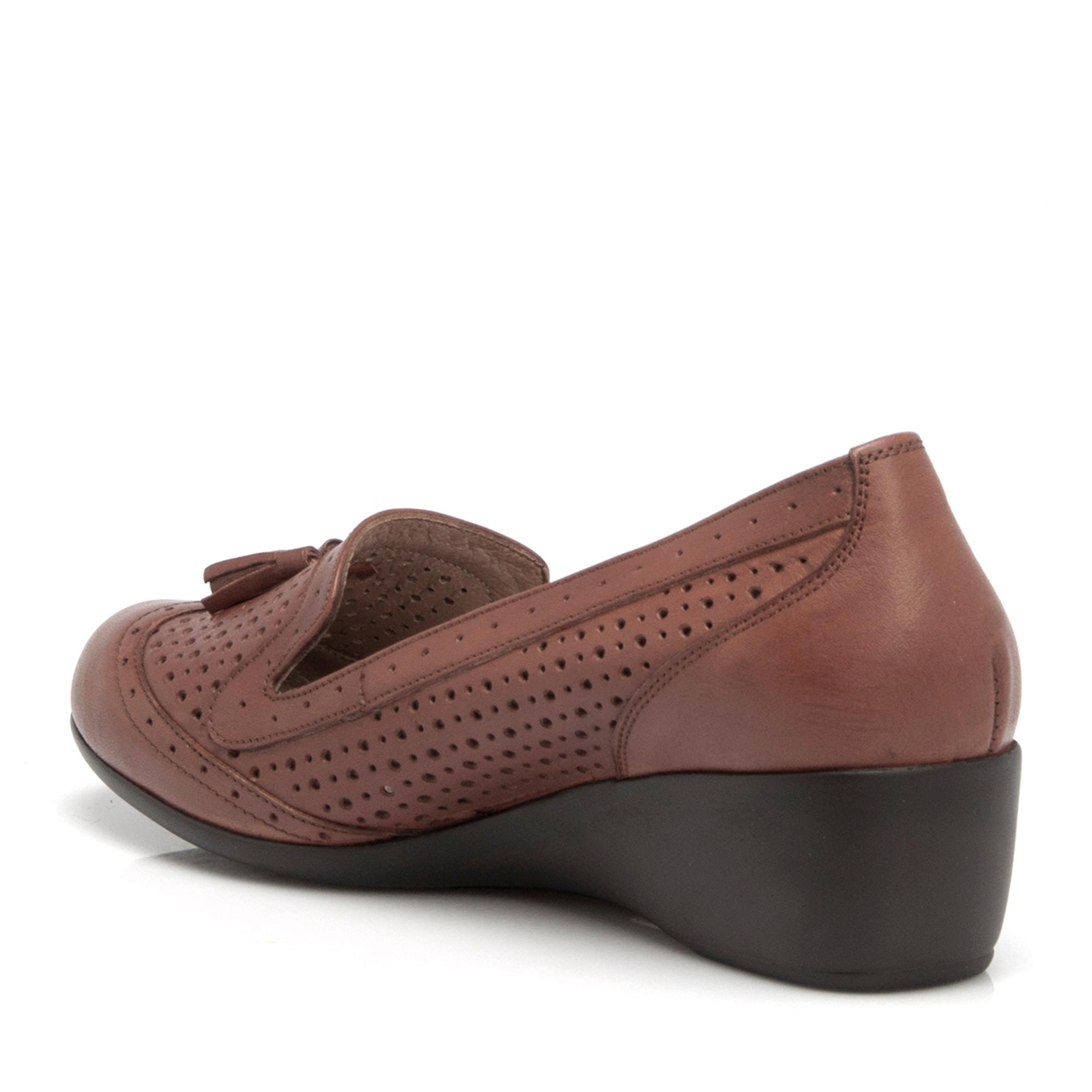 Taba Deri Kadın Ayakkabı 64202A29