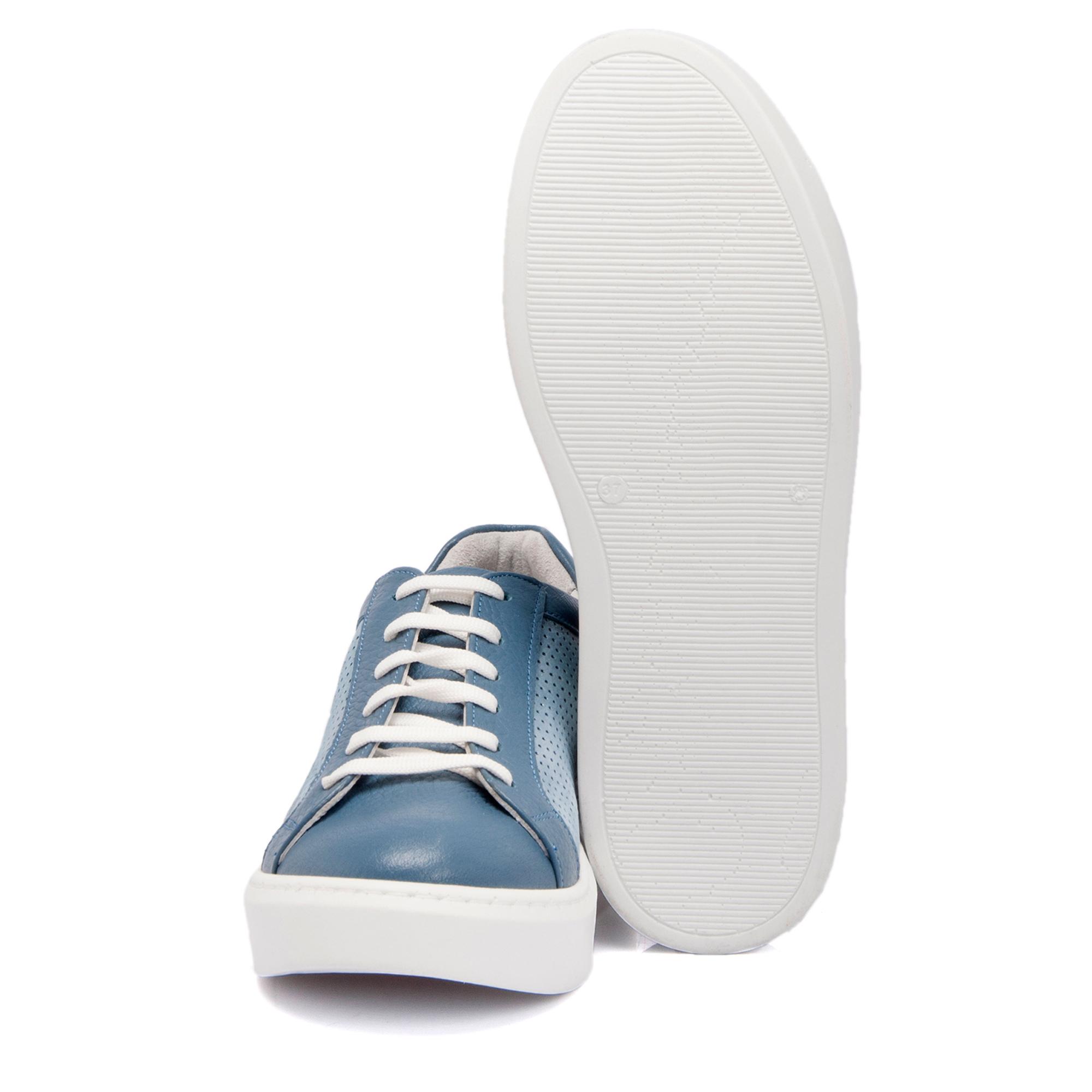 Kot Mavi Deri Kadın Ayakkabı 64207N1S