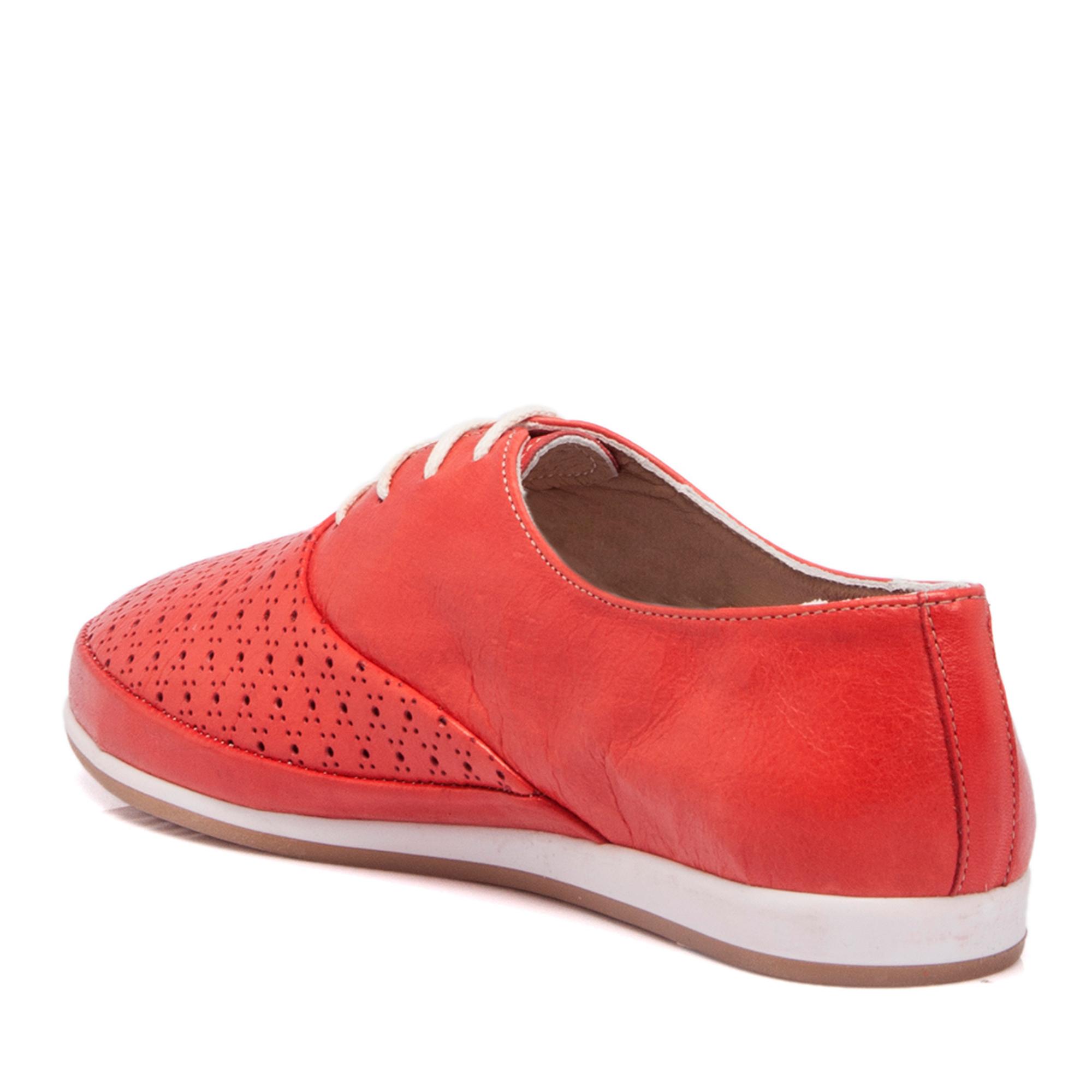 Kırmızı Deri Kadın Ayakkabı 64217A30