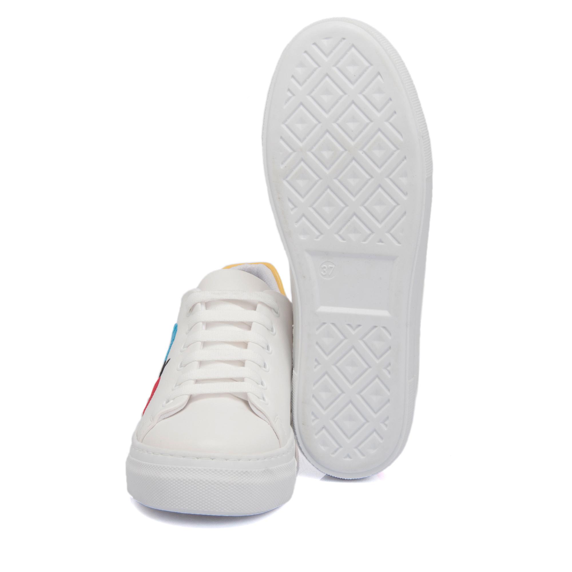 Beyaz Tekstil Kadın Ayakkabı 64229D93