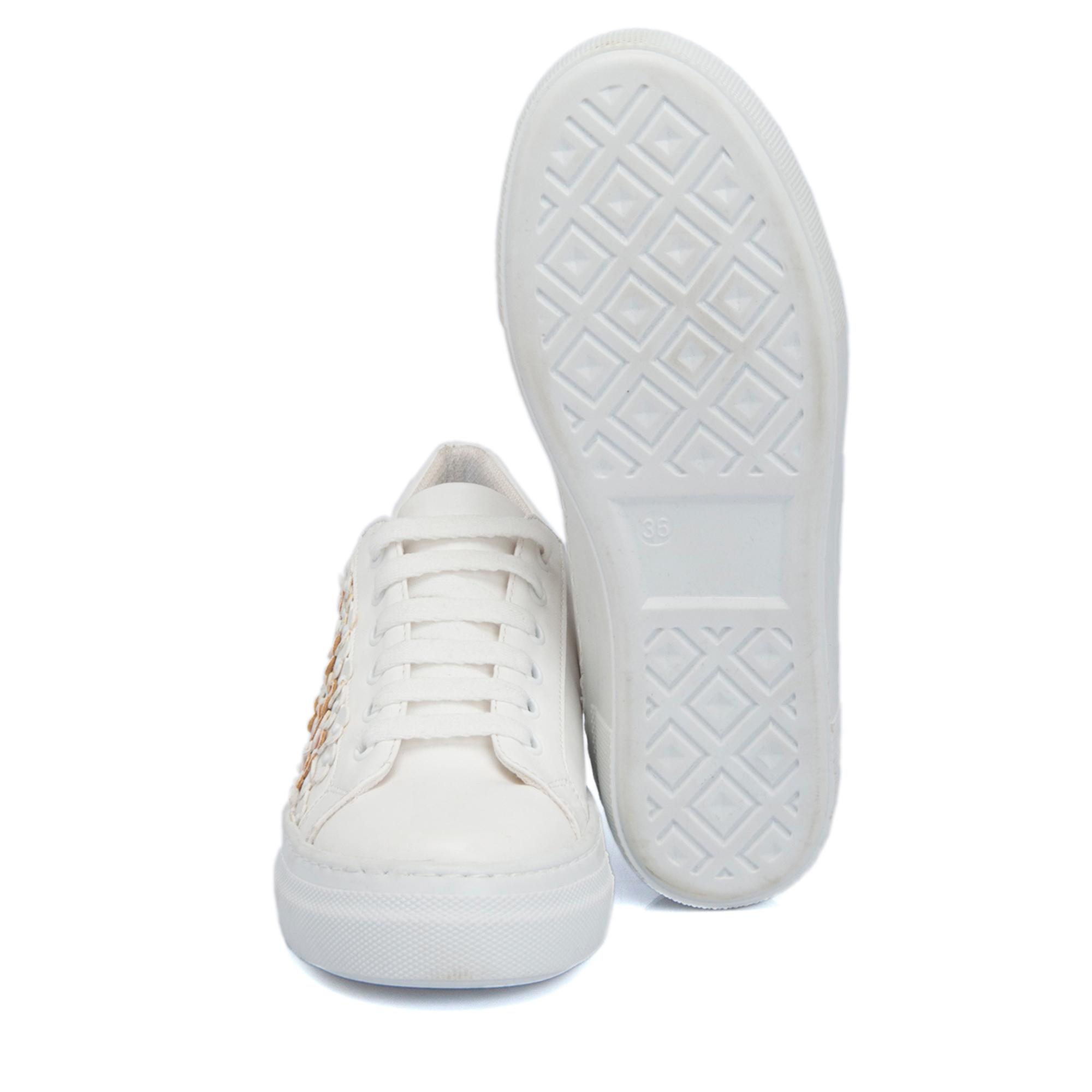 Beyaz-Pudra Deri Kadın Ayakkabı 64259O0Z