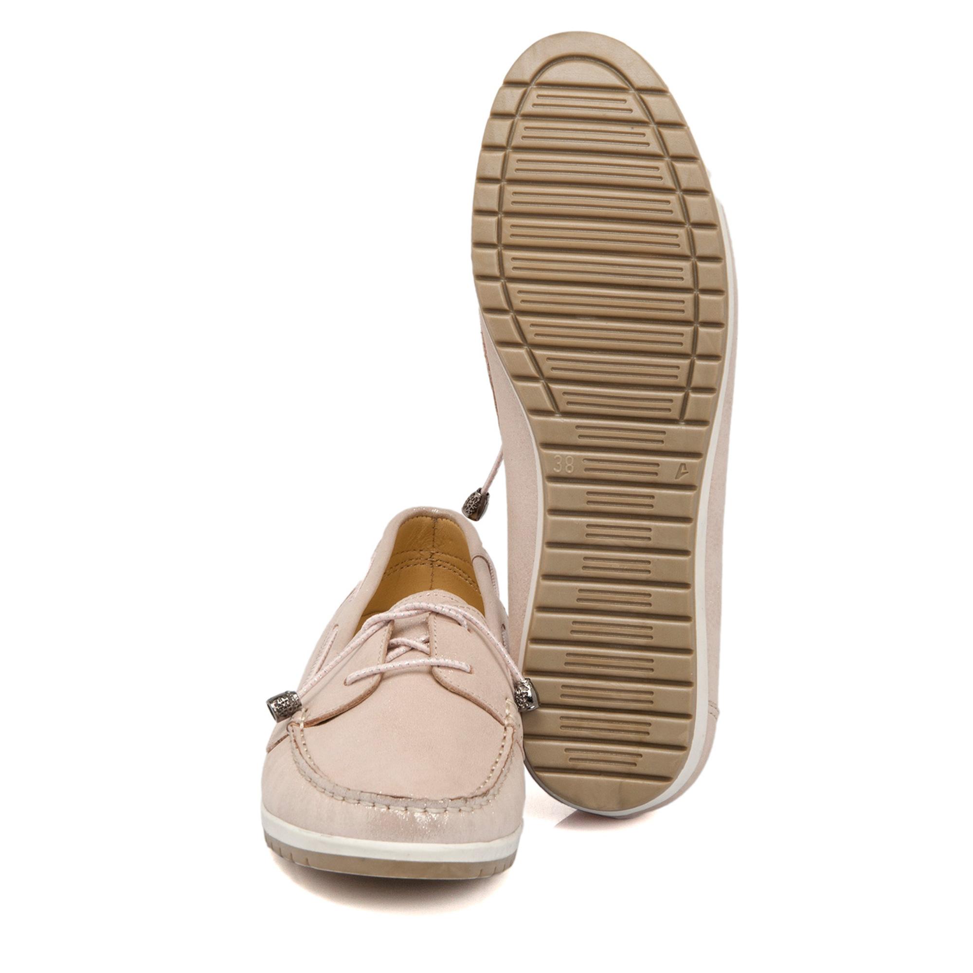 Pudra-Simli Deri Kadın Ayakkabı 64298N0P