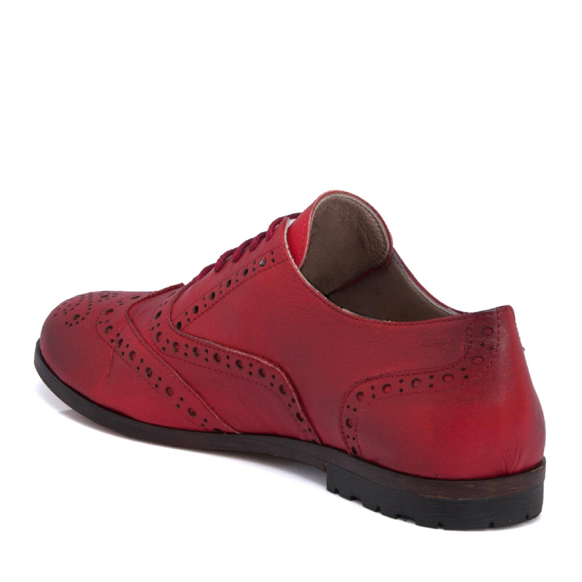 Kırmızı Deri Kadın Ayakkabı 64373A30