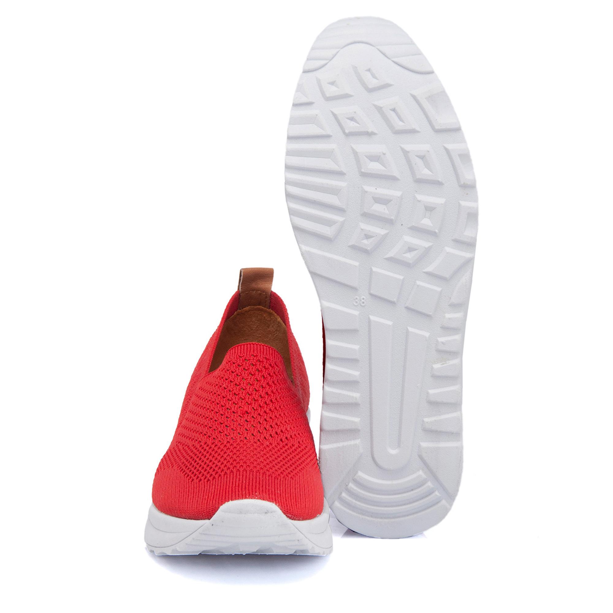 Kırmızı Tekstil Kadın Ayakkabı 64389I48