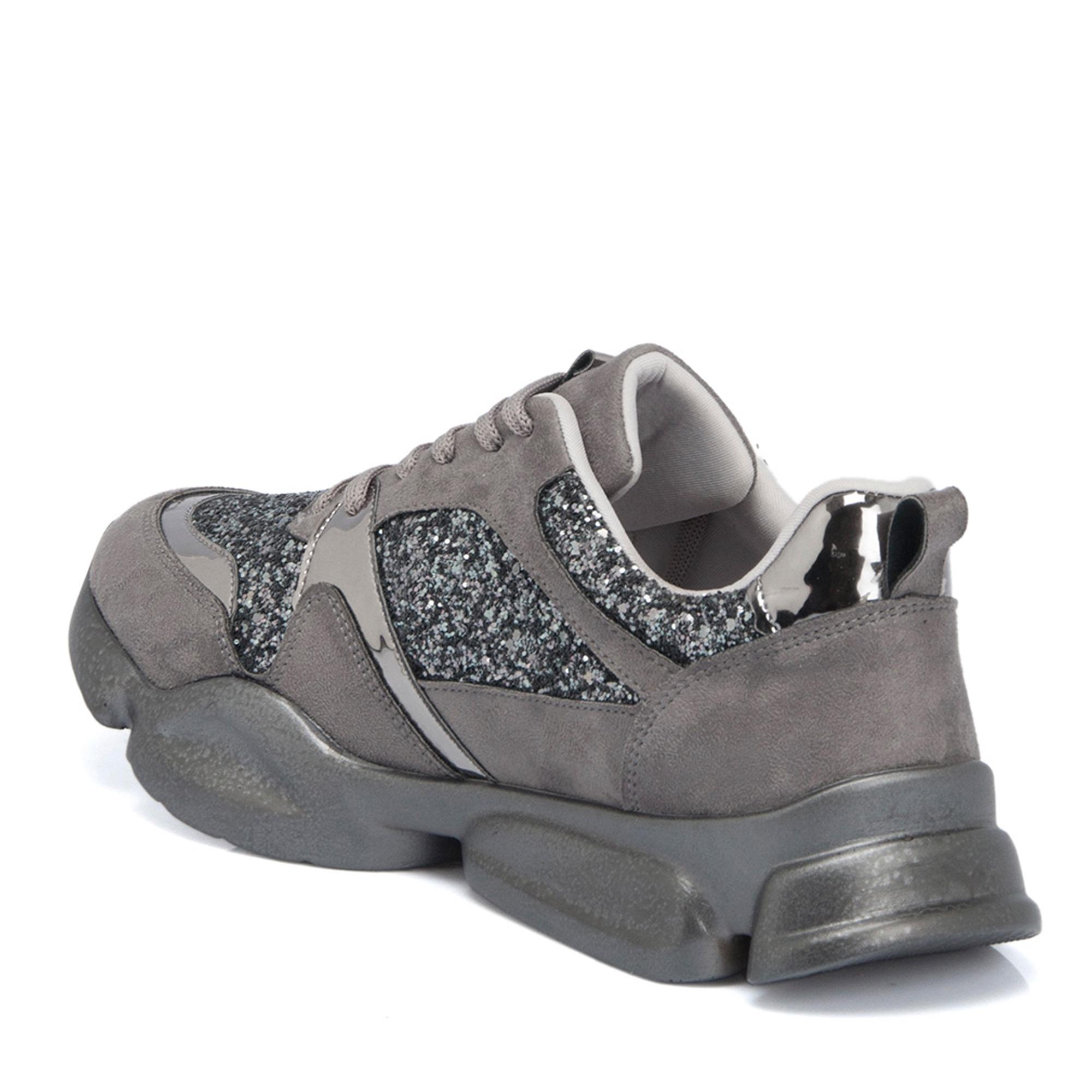 Gri Vegan Kadın Ayakkabı 64515L9V