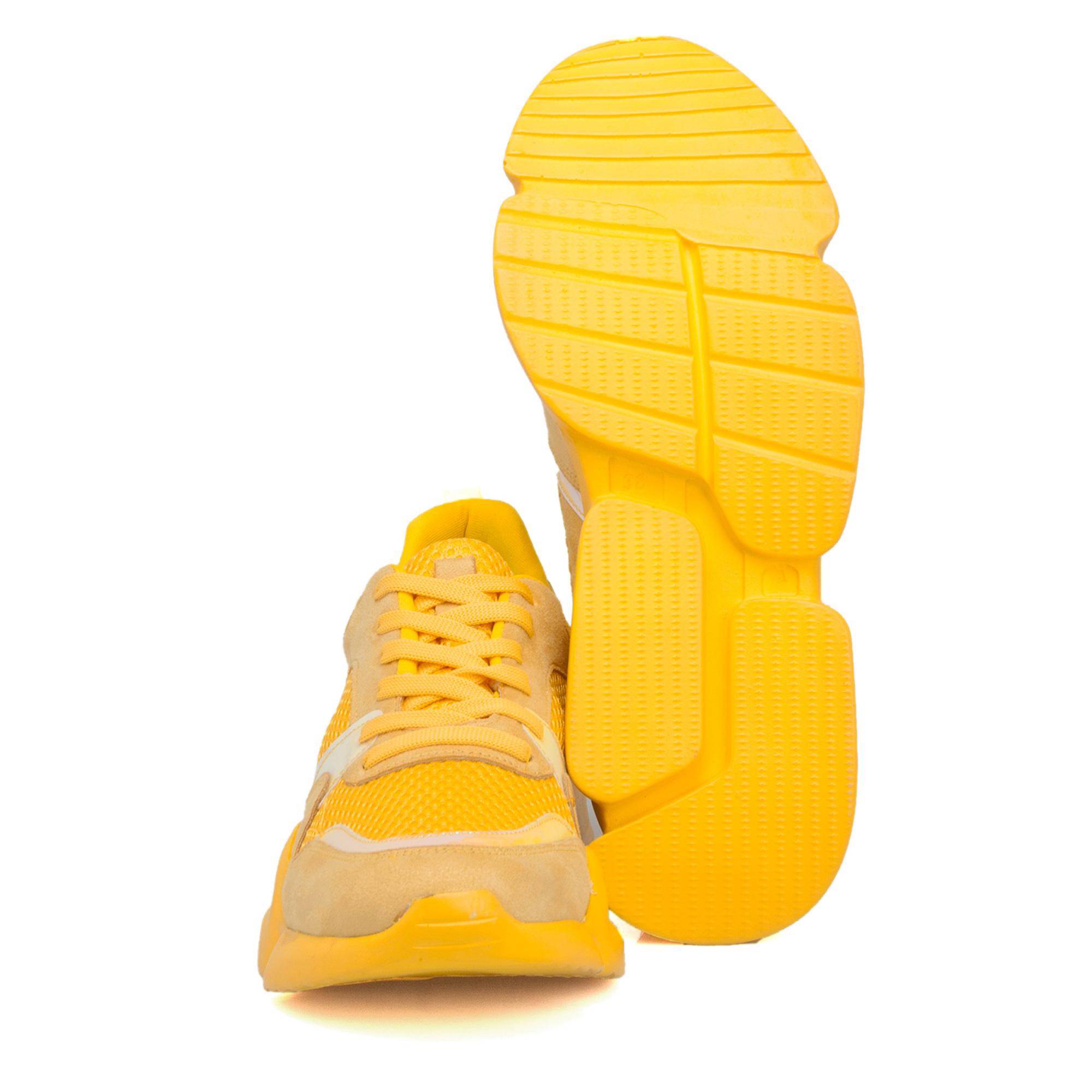Sarı Vegan Kadın Ayakkabı 64515O7B