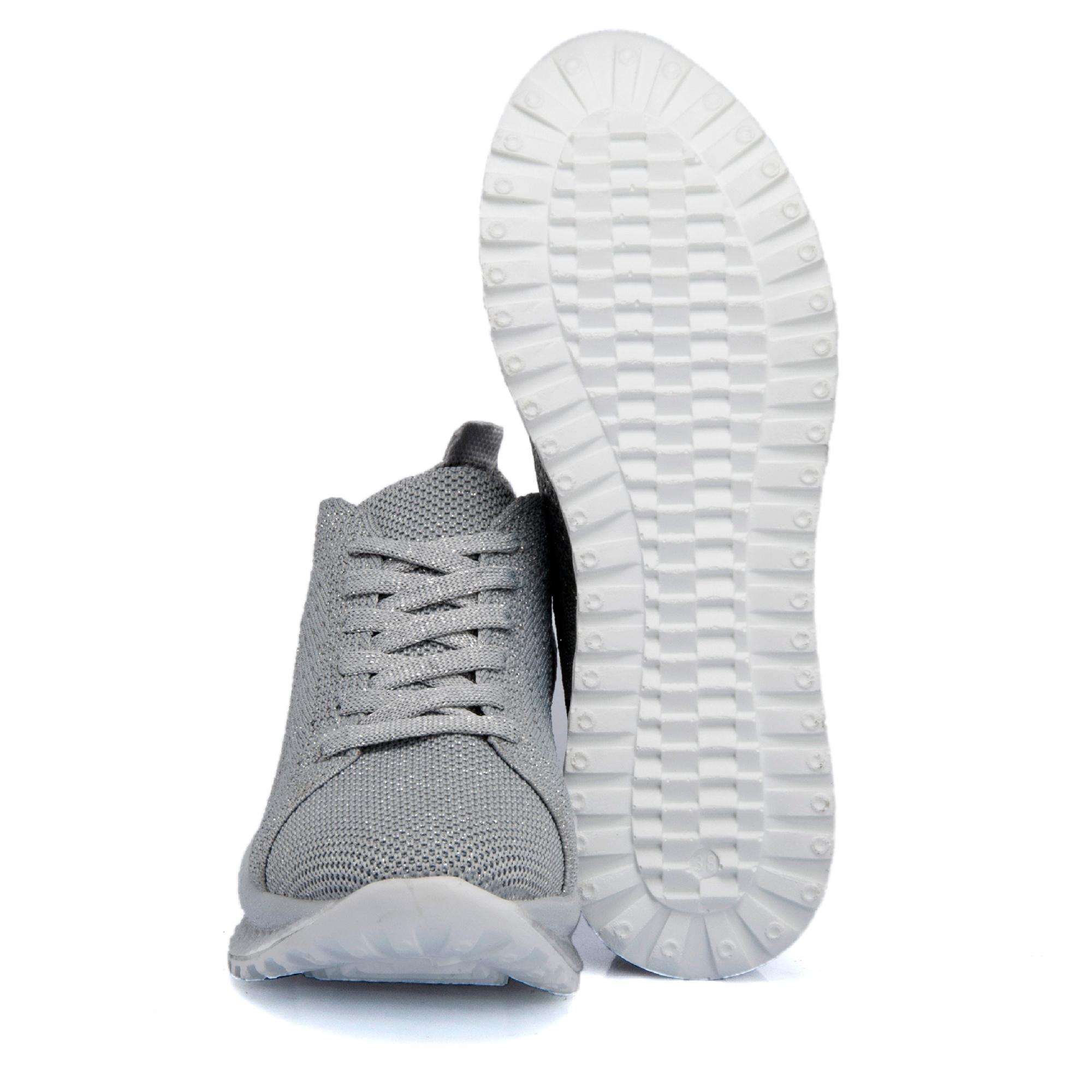 Gri Tekstil Kadın Ayakkabı 64523I50