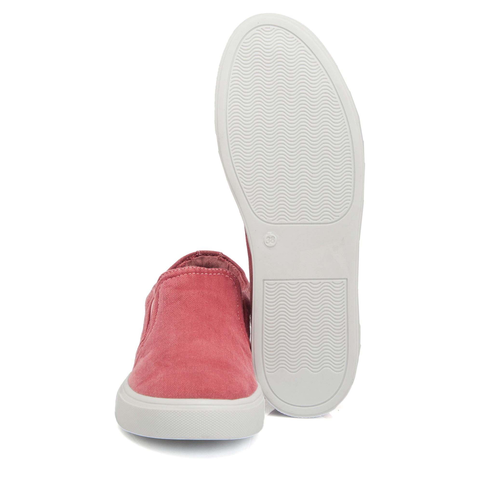 Bordo Tekstil Kadın Ayakkabı 64545M06