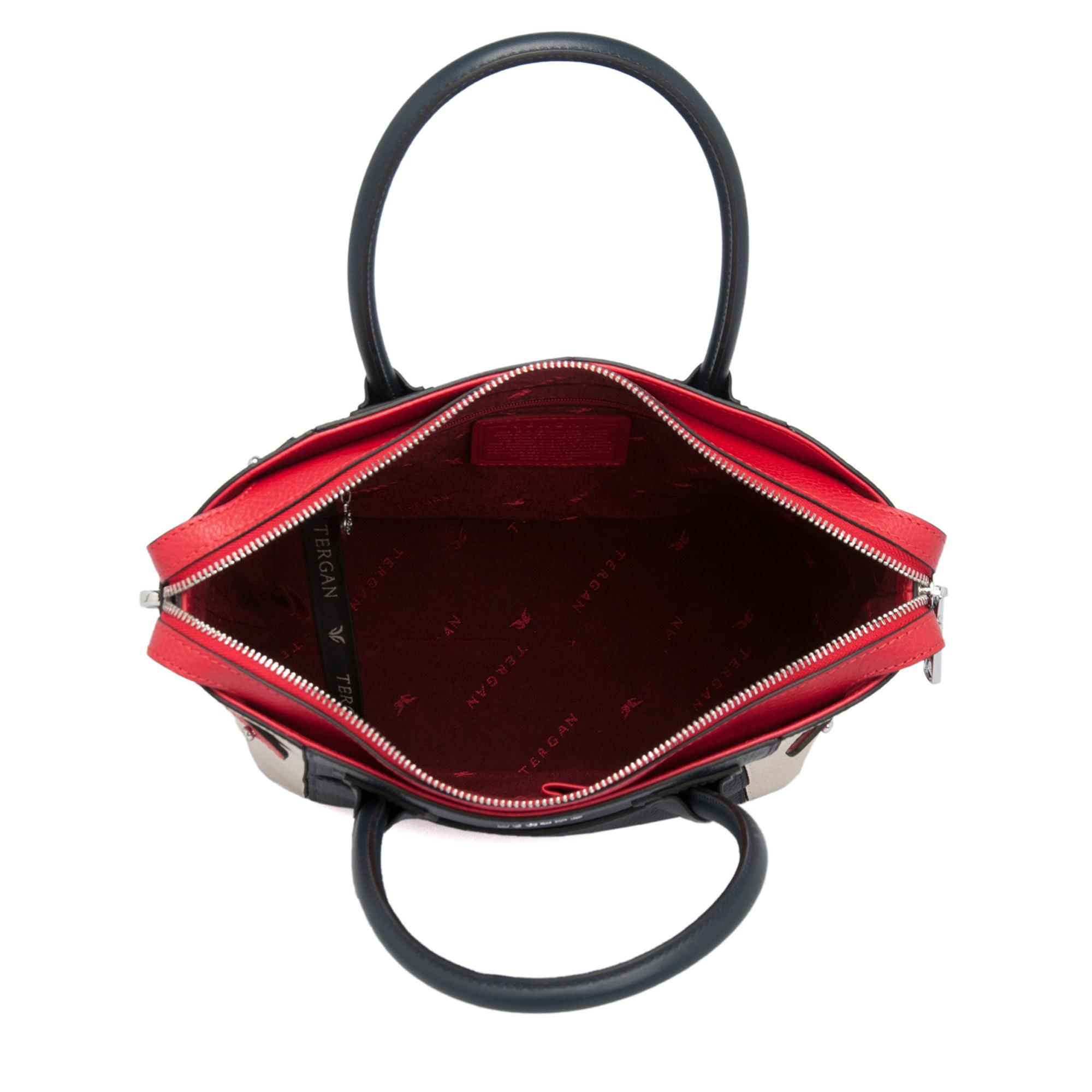 Lacivert-Kırmızı Kadın Çanta 79497D1T