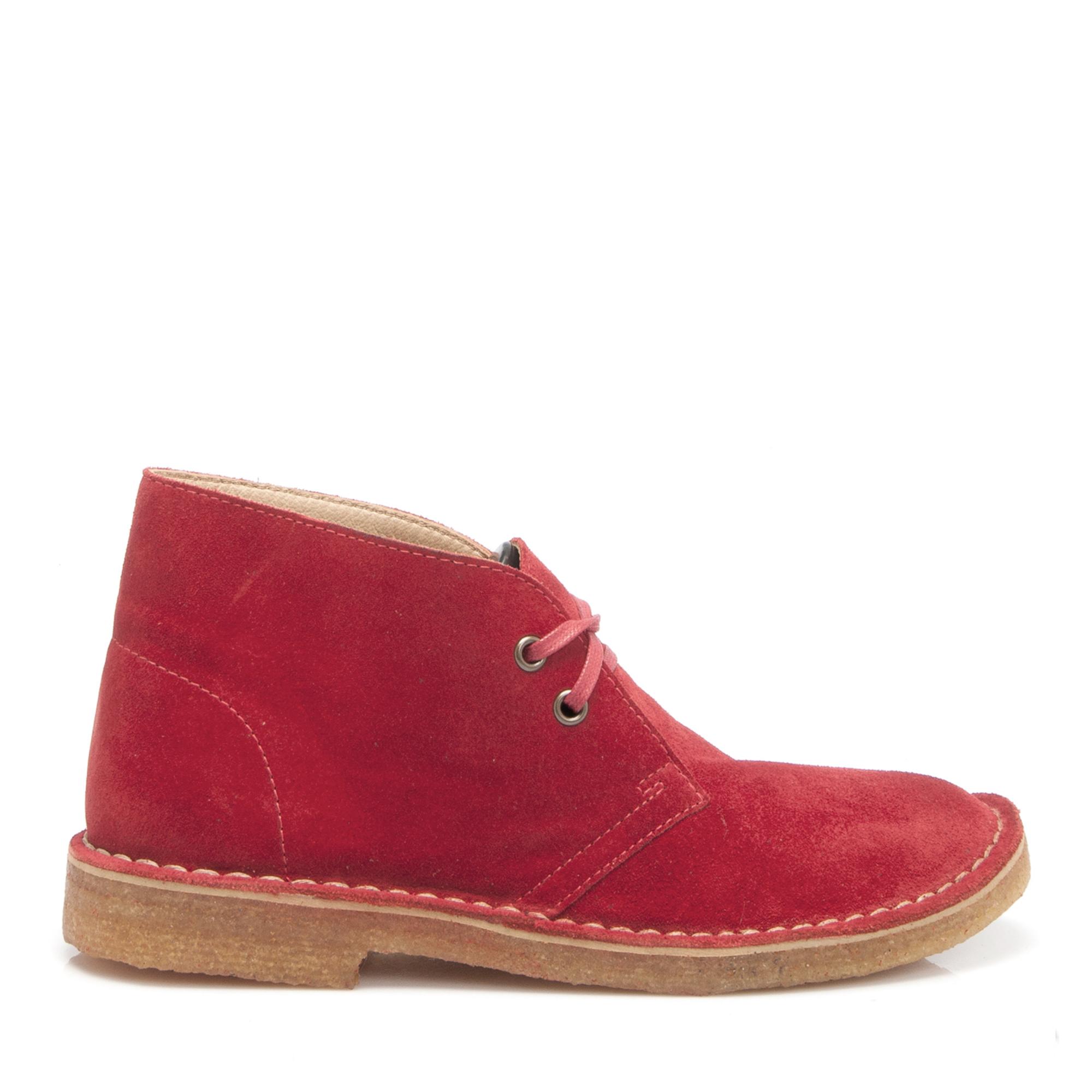 Kırmızı Deri Kadın Bot 62640B78
