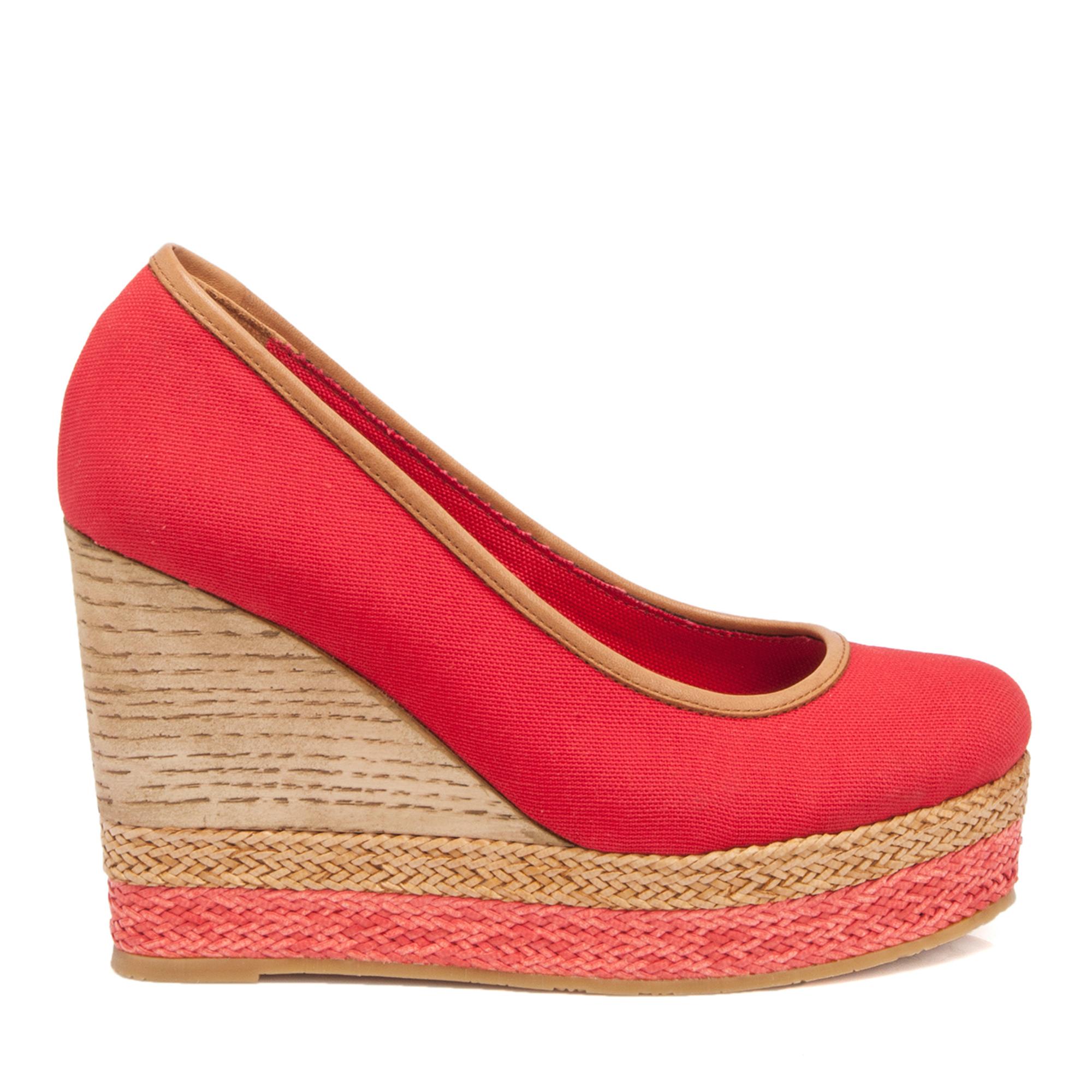 Kırmızı Tekstil Kadın Ayakkabı 63397B9L