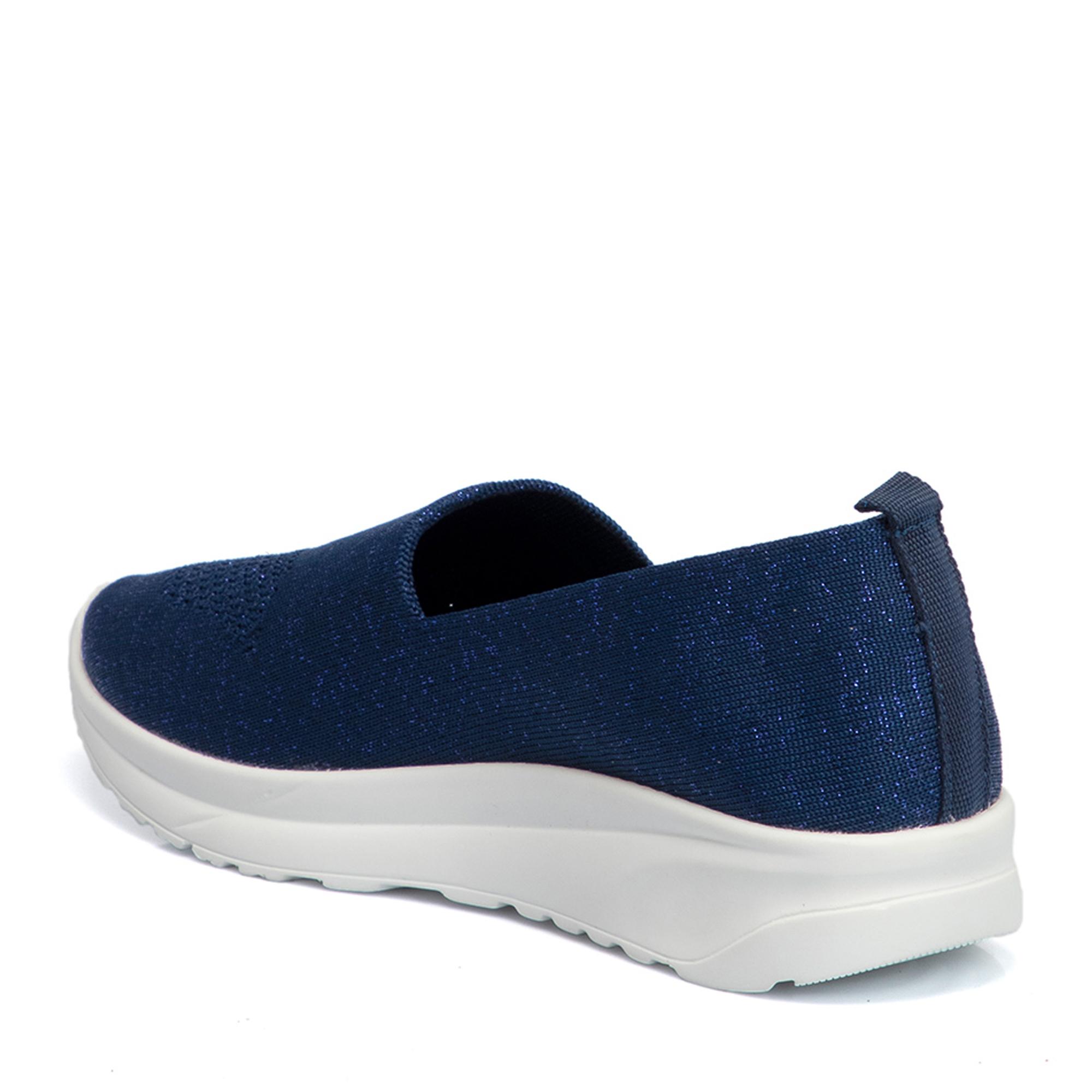 Lacivert Deri Kadın Ayakkabı 64504B20