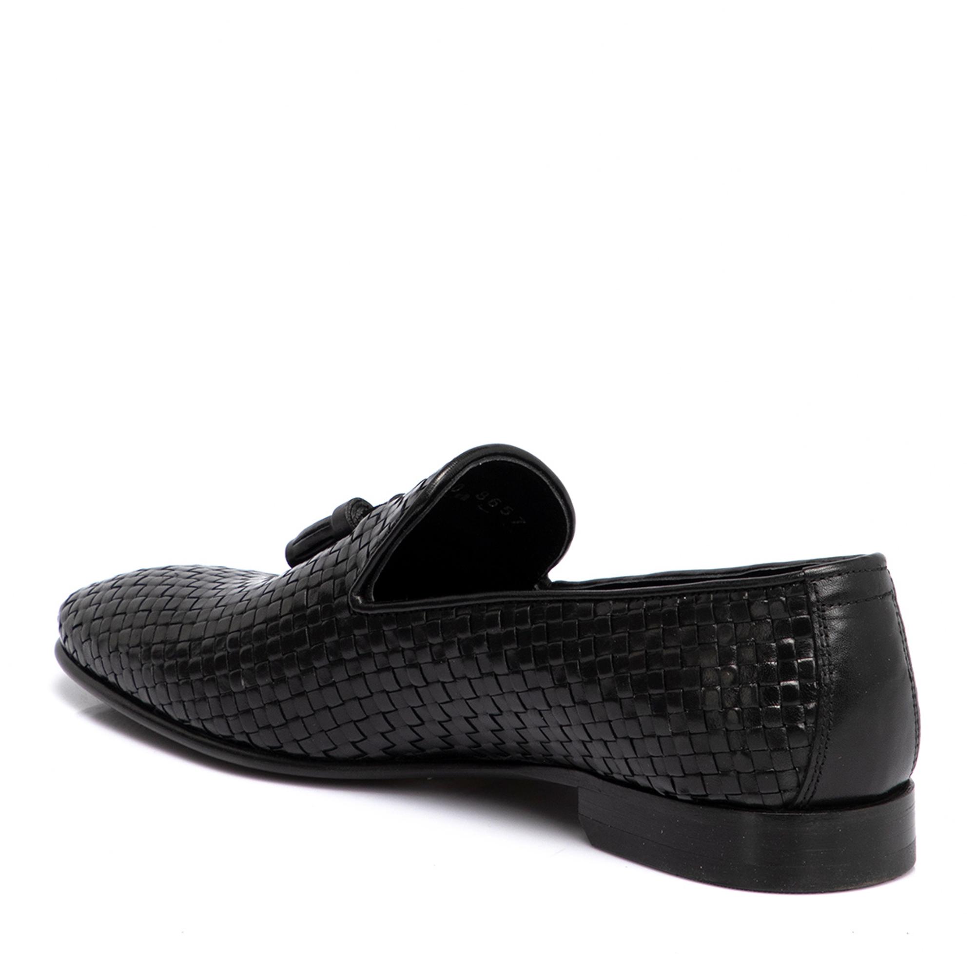 Siyah Deri Erkek Ayakkabı 54293B9N