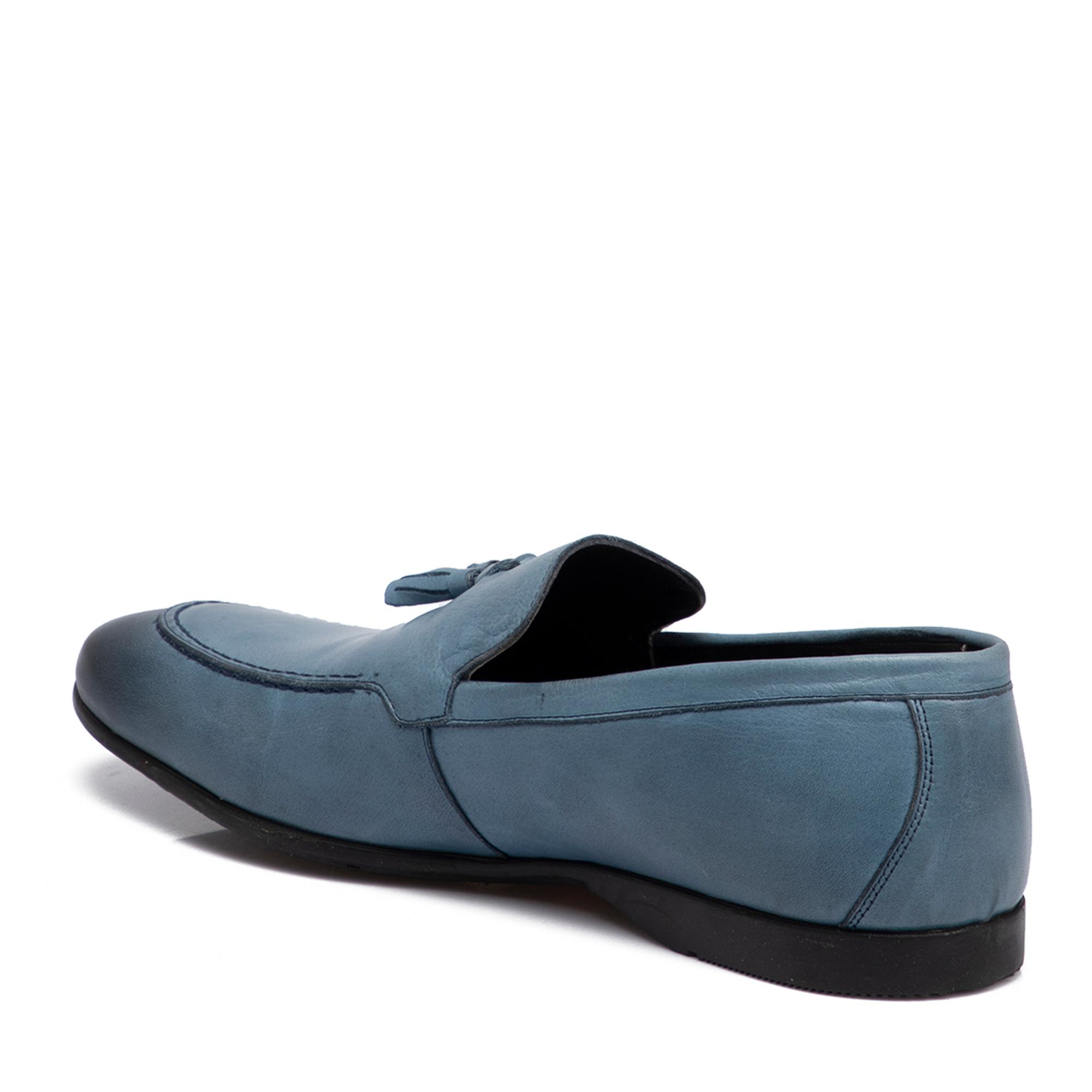 Mavi Deri Erkek Ayakkabı 54373J61
