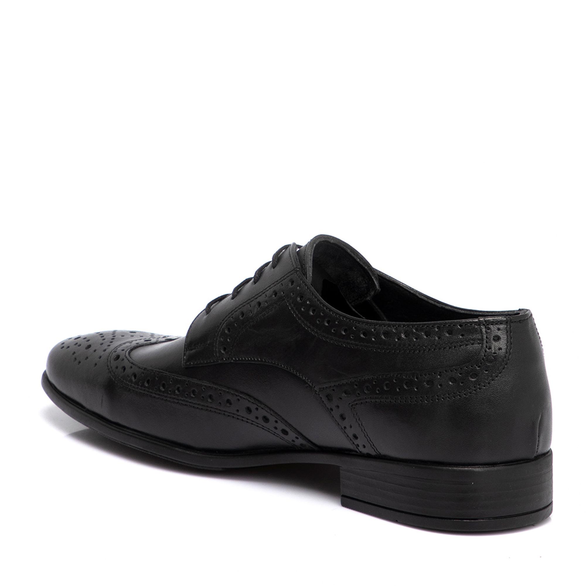 Siyah Deri Erkek Ayakkabı 54379A23