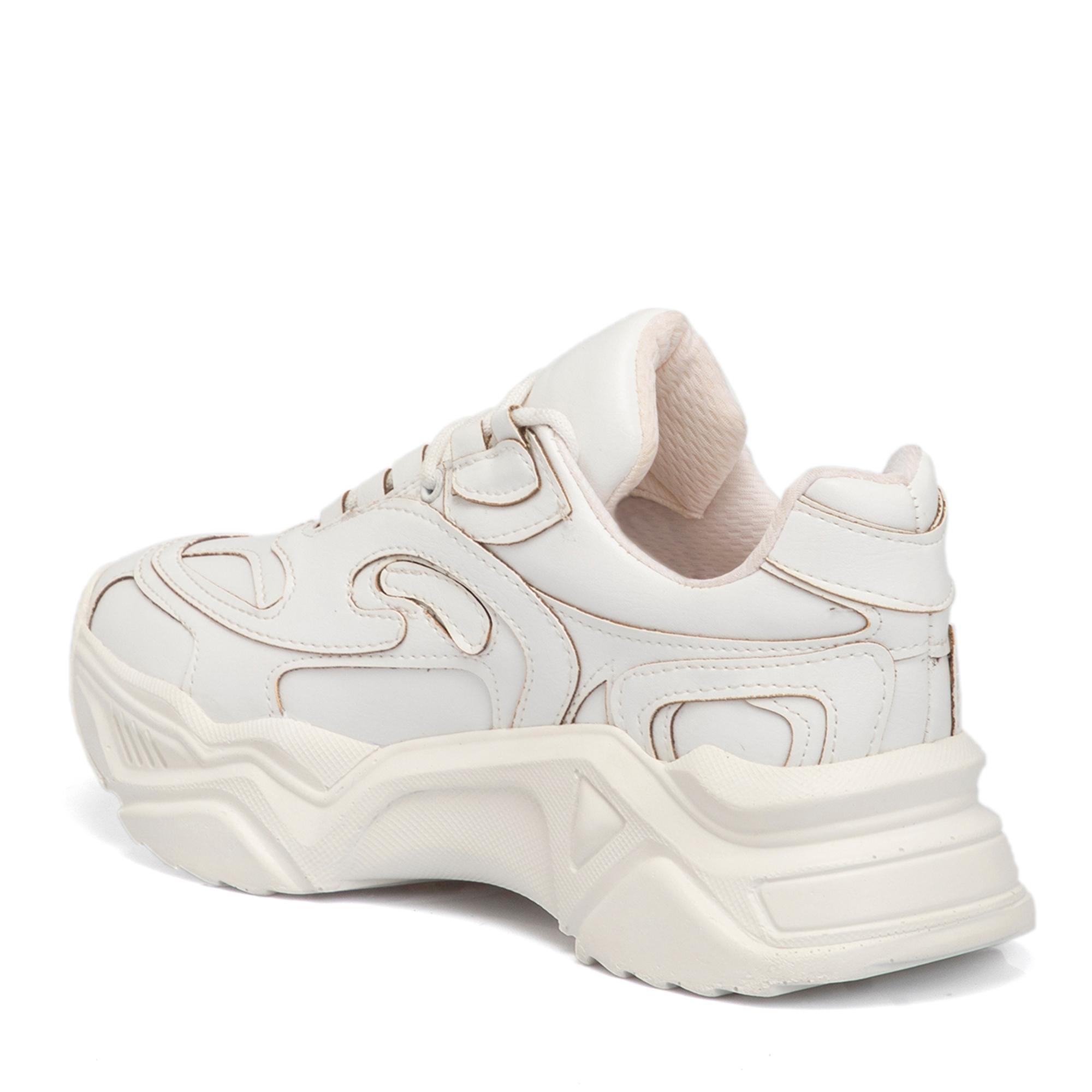 Beyaz Vegan Kadın Ayakkabı 65078D93