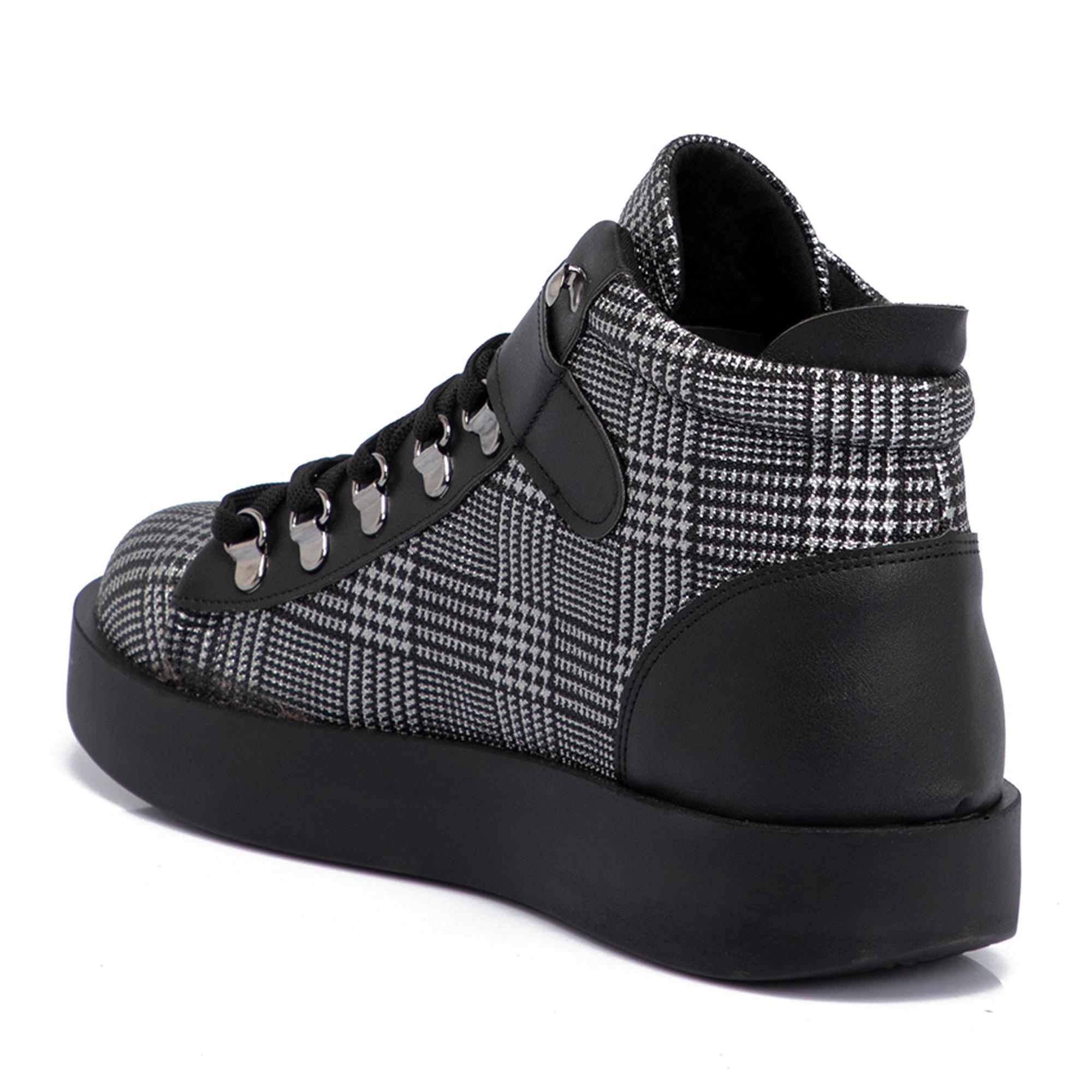 Siyah Tekstil Kadın Bot 65199D62