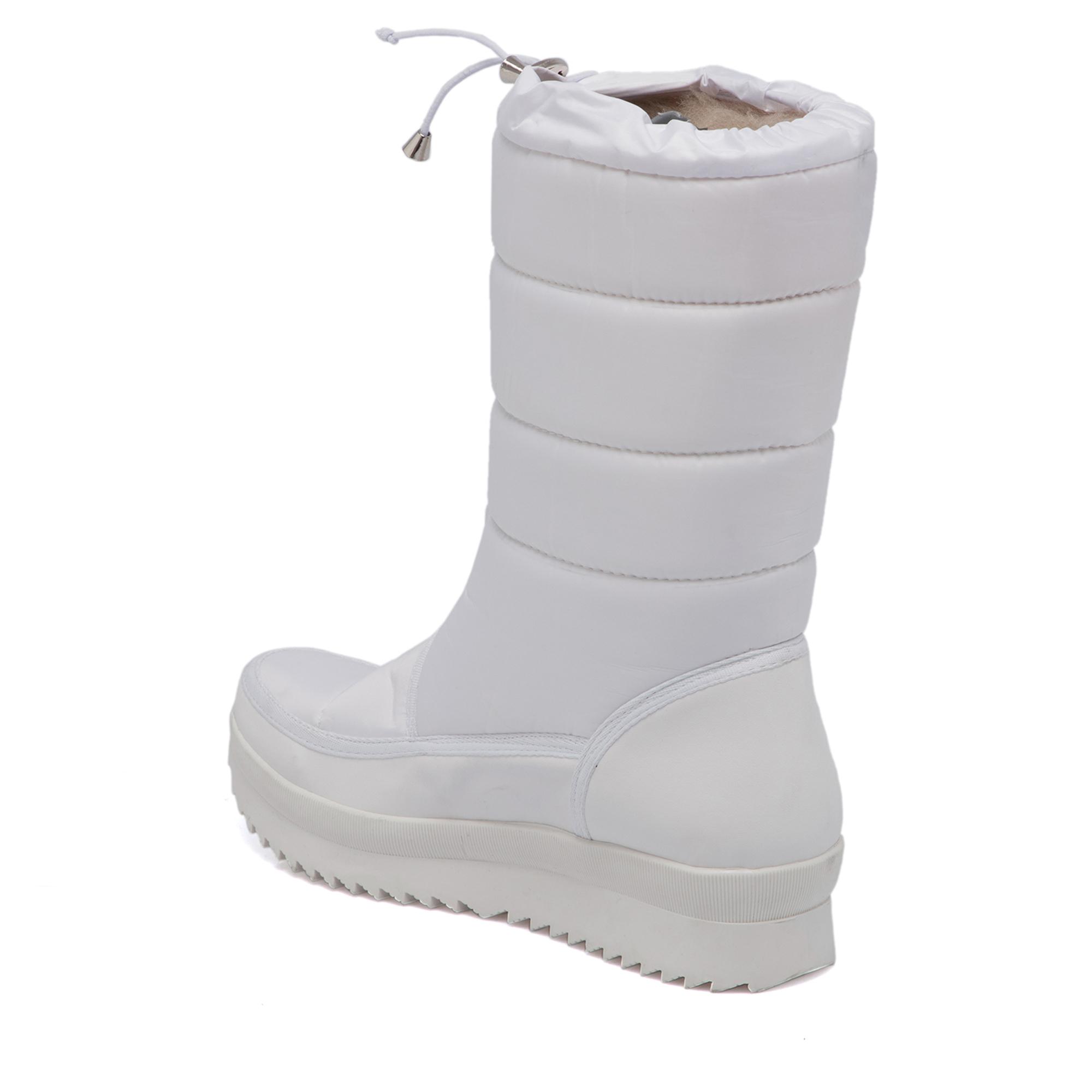 Beyaz Vegan-Tekstil Kadın Bot 65345I45
